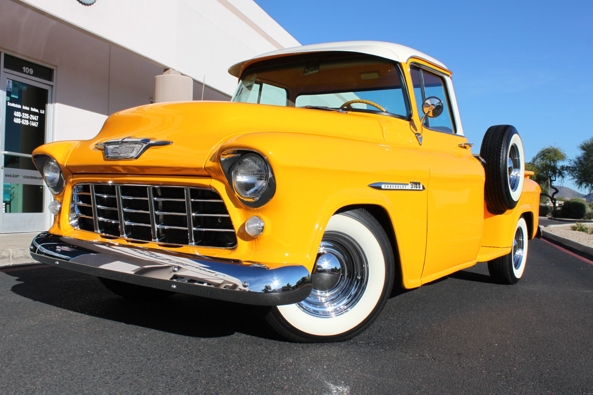 1955 Chevrolet 3100 Pickup Truck Stock C1096 For Sale Near Scottsdale Az Az Chevrolet Dealer